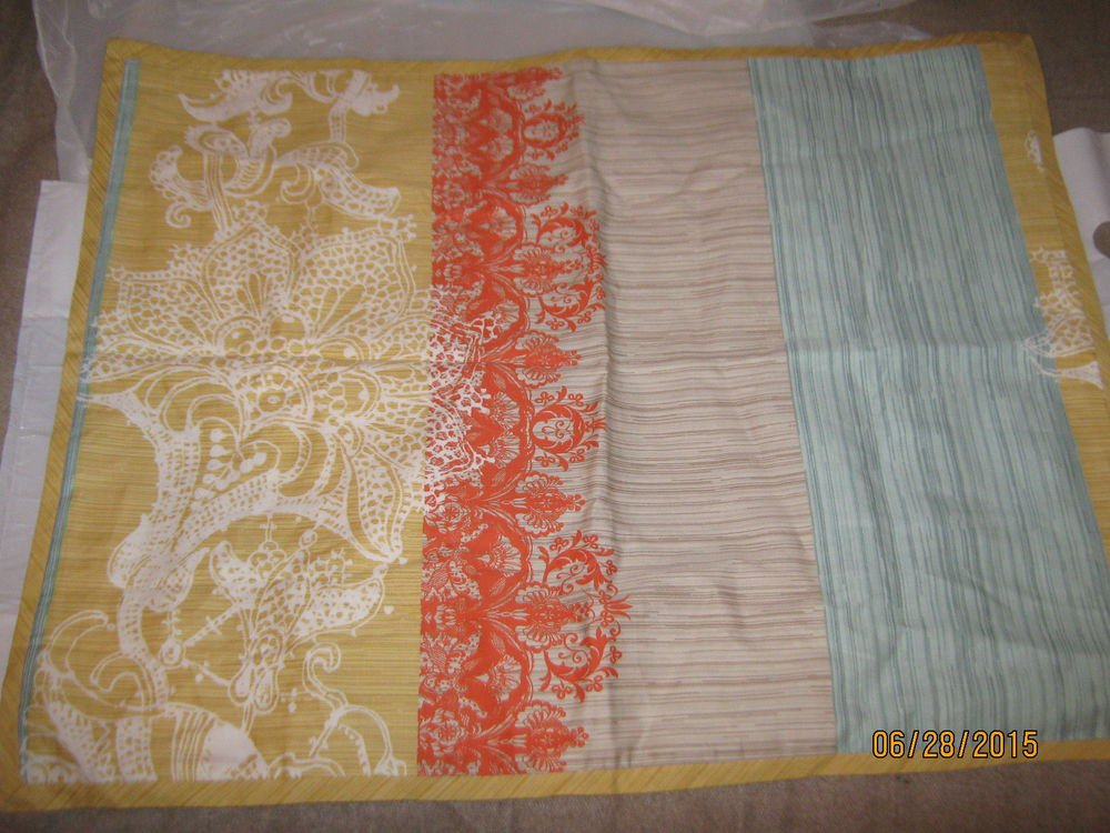 New 1 Ellery Homestyle Multi-Color Pillow Sham 20x26 100% Cotton - Cool Design