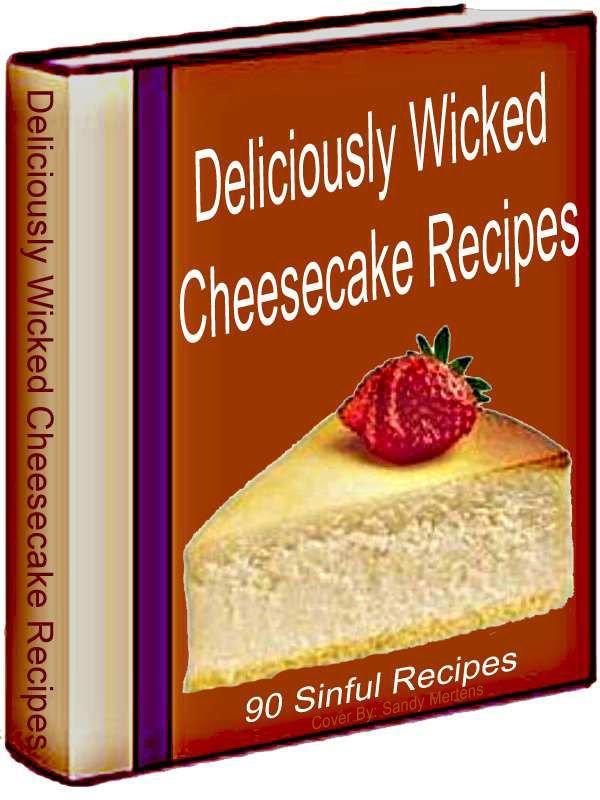 90 CHEESECAKE Recipes eBook on CD Printable