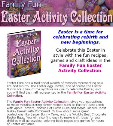 Easter Activity Collection - Recipes Crafts and Games eBook on CD Printable