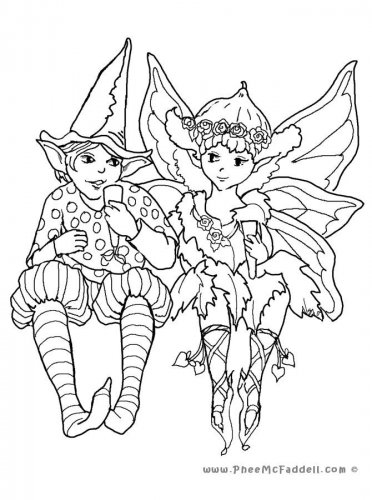Elfs and Fairies Printable Coloring eBook 32 Pages on a CD