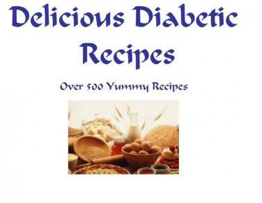 DIABETIC Recipes Cookbook eBook on CD Printable Over 50 Delicious Recipes