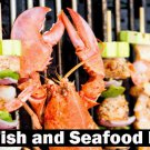 1600 SEAFOOD Recipes eBook on CD Printable - Free Combined Shipping