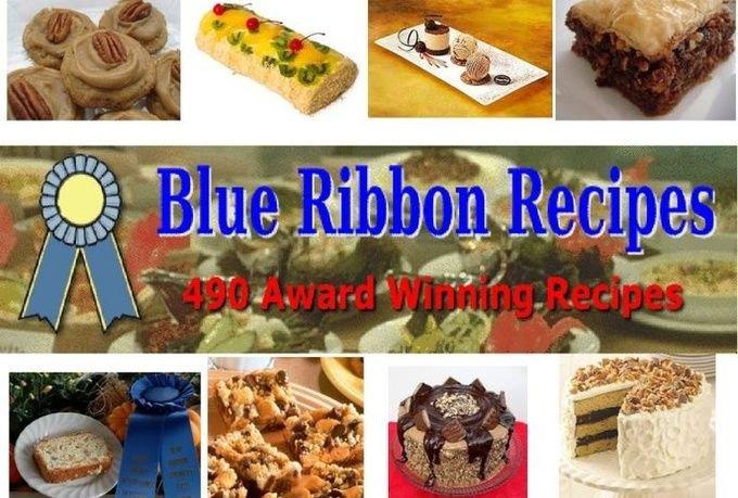 490 BLUE RIBBON AWARD WINNING Recipes eBook on CD Printable