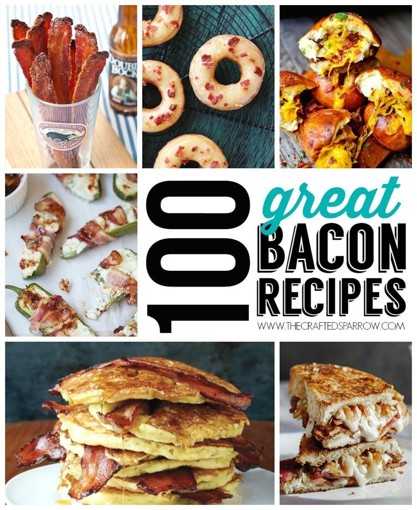 100+ BACON Recipes eBook on CD Printable