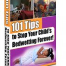 Tips To Stop Bedwetting eBook on CD Printable