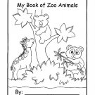 Zoo Animals Printable Coloring eBook 58 Pages on a CD