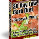 30 Day Low Carb Diet – Ketosis Plan on CD Printable eBook