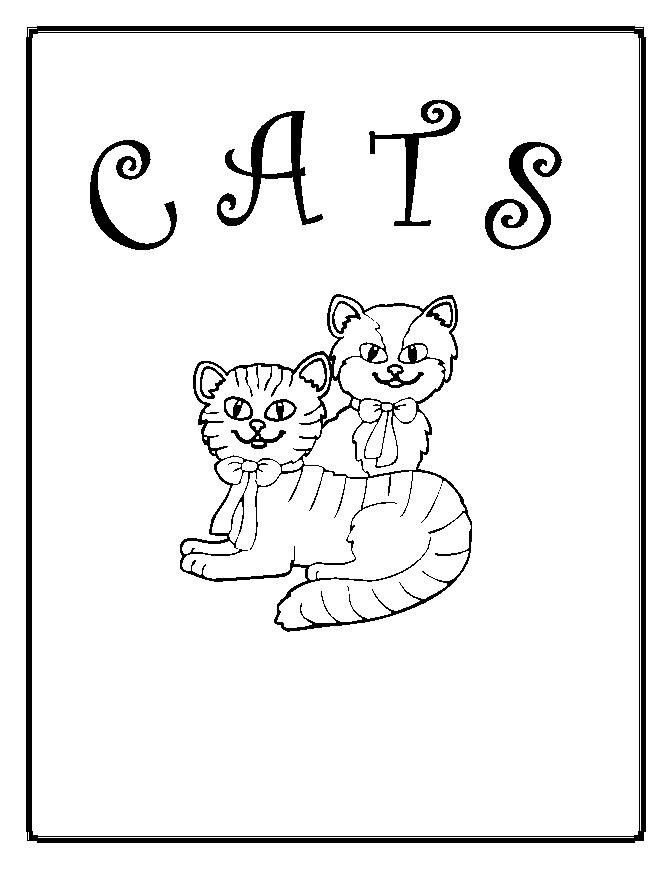 Cats Coloring eBook on CD Printable 146 Pages
