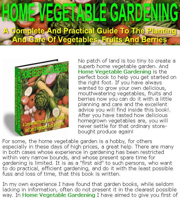 Home VEGETABLE GARDENING Guide eBook