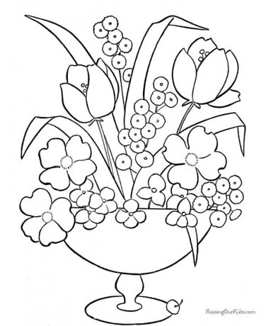 Flowers Printable Coloring eBook 318 Pages