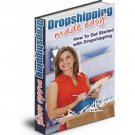 Dropshipping Made Easy eBook on CD Printable