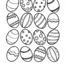 Easter Eggs Coloring Book on CD eBook PDF 60 Printable pages