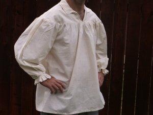 XS XSmall Renaissance Drop Yoke Primitive Pioneer Pirate Poet Theatre Shirt
