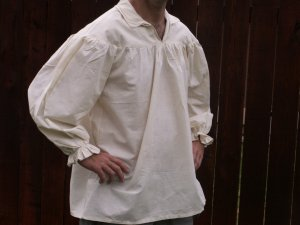 Small Renaissance Drop Yoke Primitive Pioneer Pirate Poet Theatre Shirt