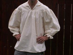 Large Renaissance Drop Yoke Primitive Pioneer Pirate Poet Theatre Shirt