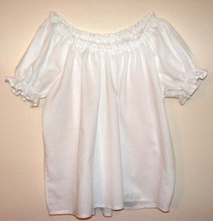 MEDIUM Womens Renaissance Faire Short Sleeve Shirt Blouse Chemise