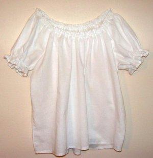 LARGE Womens Renaissance Faire Short Sleeve Shirt Blouse Chemise