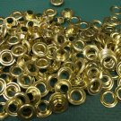 144 COUNT 1 gross SIZE 0 Solid Brass Grommets with Washers .25 inch I.D. NEW