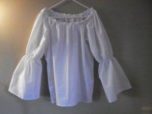 2XL Womens Bell Flared Long Sleeve Renaissance Faire Shirt Blouse Chemise