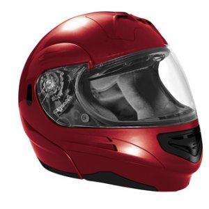 SUMMIT II VEGA FLIP UP MODULAR MOTORCYCLE HELMET CANDY RED DOT SIZES XS-2X IN STOCK