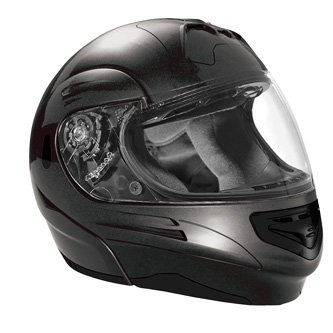 SUMMIT II VEGA FLIP UP MODULAR MOTORCYCLE HELMET DARK GREY DOT SIZES XS-2X IN STOCK