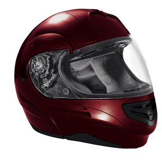 SUMMIT II VEGA FLIP UP MODULAR MOTORCYCLE HELMET DARK RED DOT SIZES XS-2X IN STOCK