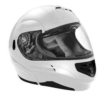 SUMMIT II VEGA FLIP UP MODULAR MOTORCYCLE HELMET PEARL WHITE DOT SIZES XS-2X IN STOCK