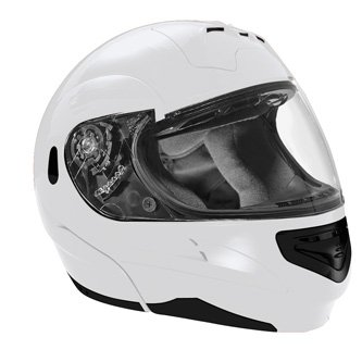 SUMMIT II VEGA FLIP UP MODULAR MOTORCYCLE HELMET WHITE DOT SIZES XS-2X IN STOCK