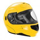 SUMMIT II VEGA FLIP UP MODULAR MOTORCYCLE HELMET PEARL YELLOW DOT SIZES XS-2X IN STOCK