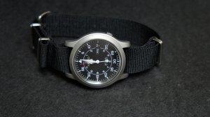 Black 20mm Nato Nylon Watch Strap