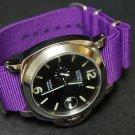 Purple 24mm  Nato Nylon Watch Strap