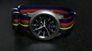Blue Red Yellow Green Stripe 20mm Nato Nylon Watch Strap