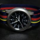 Blue Red Yellow Green Stripe 22mm Nato Nylon Watch Strap