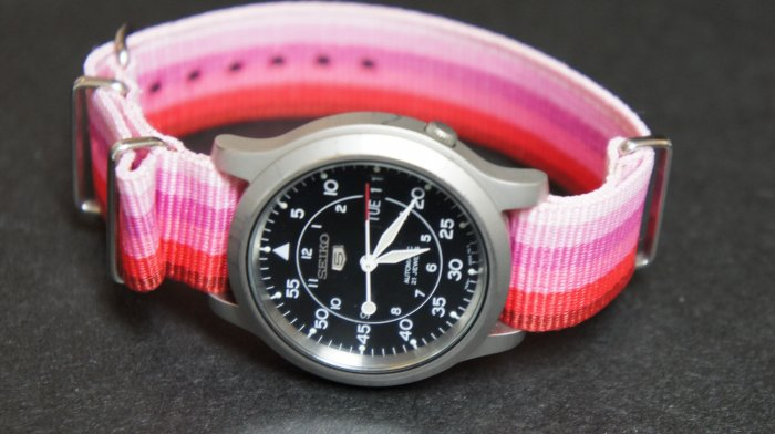 Pink Rainbow 18mm Nato Nylon Watch Strap
