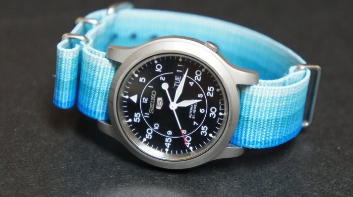 Blue Rainbow 18mm Nato Nylon Watch Strap