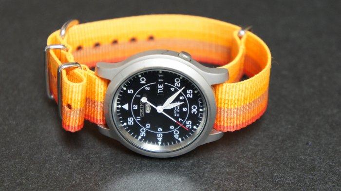 Orange Rainbow 18mm Nato Nylon Watch Strap