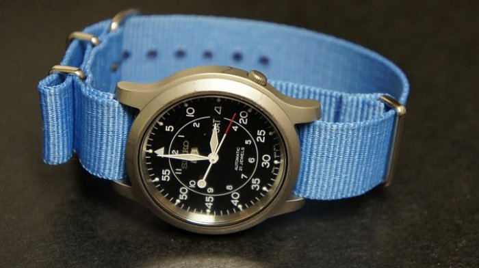 Sky Blue 18mm Nato Nylon Watch Strap