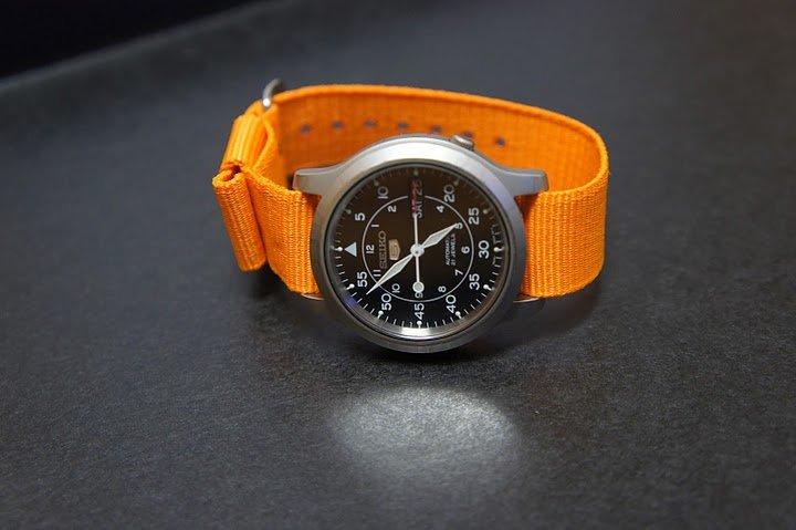 Orange 18mm Military Watch Strap