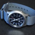 Gray 22mm Military Watch Strap