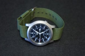 Green 18mm Military Watch Strap