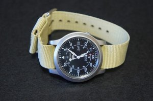 Sand 18mm Military Watch Strap