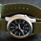 Military Green 22mm PVD Black Line Nato Nylon Watch Strap