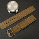 Brown 18mm 2 Piece Military Watch Strap