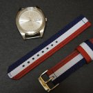 Red White Blue 20mm 2 Piece Military Watch Strap