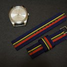 Blue Red Green Yellow 20mm 2 Piece Military Watch Strap