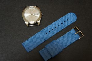 Sky Blue 20mm 2 Piece Military Watch Strap