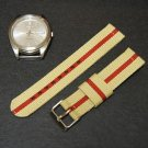 Sand Red 20mm 2 Piece Military Watch Strap