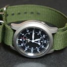 Military Green 24mm Nato Nylon Watch Strap