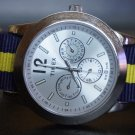 Blue and Yellow Stripe 20mm Nato Nylon Watch Strap