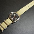 Sand 24mm 3 Ring Zulu Nylon Watch Strap Band